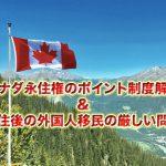カナダ永住権のポイント制度と移住後、移民になった後の厳しい現実問題