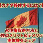 カナダ移住するには?永住権取得方法と移民するメリット&デメリットを解説